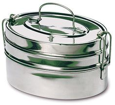 Rome 2662 Stainless Steel Mini Oval Tiffin Food Carrier, 5 by Lunch To Go, Lunch Box, Stainless Steel Containers, Bento Box, Food Containers, Indian Food Recipes, Home Kitchens, Kitchen Dining, Rome
