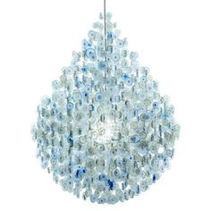 chandeliers by Stuart Haygarth This one made from disgarded water bottles
