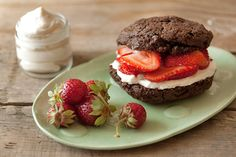 Chocolate Strawberry Shortcake :-)    Scroll all the way to the bottom and click on Printable Recipe for ingredient list and measurements.