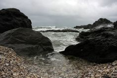 Shells, rocks and surf by CathleenTarawhiti.deviantart.com on @DeviantArt