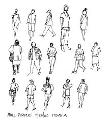 Resultado de imagen para architecture people drawings silhouettes plan