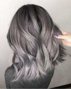 gray hair Gray Wigs Hair Blue Hair Dye For Grey HairSudden Grey Hair wigsshort Silver Hair Dye, Dyed Hair Blue, Dark Silver Hair, Silver Hair Colors, Grey Hair Colors, Short Silver Hair, Silver Ombre, Pelo Color Gris, Grey Wig