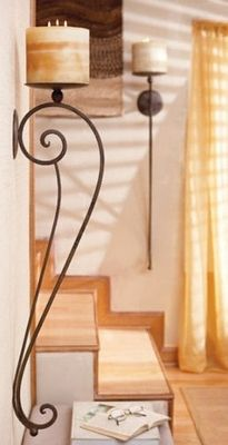 """I like the colors and """"feel"""" of this more than the sconce/lamp etc! Sedona Artistic Wall Sconce (Set of 2)"""