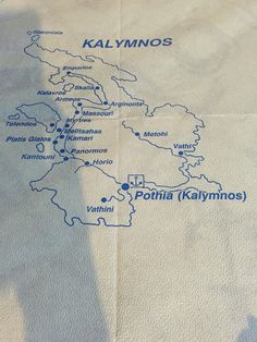 Map of Kalymnos