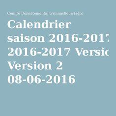 Calendrier saison 2016-2017 Version 2 08-06-2016