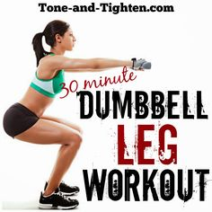 Weekly Workout Plan – 5 days of dumbbell workouts to tone and tighten your total body! – Best dumbbell exercises Tone & Tighten: Weekly Workout Plan - 5 days of dumbbell workouts to tone and tighten your total body! Dumbbell Leg Workout, Best Dumbbell Exercises, Leg Day Workouts, Toning Workouts, Butt Workout, Easy Workouts, At Home Workouts, Weight Exercises, Body Exercises