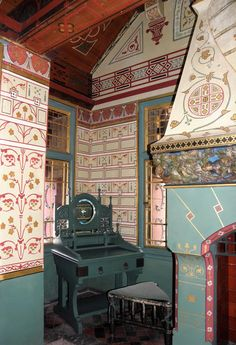 Lord Bute's bedroom, Castell Coch Welsh Castles, Cymru, Wales, Bedroom, Luxury, Welsh Country, Bedrooms, Dorm Room, Dorm