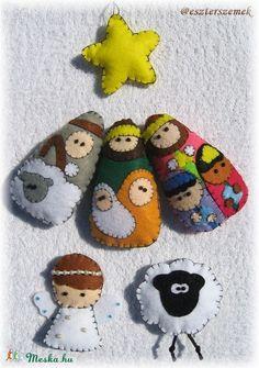 Karácsonyfa díszek filcből - Betlehem Nalu, Gingerbread Cookies, Holiday Ideas, Christmas Holidays, Halloween, Crafts, Navidad, Christmas Crafts, Felting