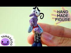 폴리머클레이로 소심이 만들기 [양쑤] Fear (Inside Out) Polymer Clay Tutorial / Handmade Miniature Character Figure - YouTube