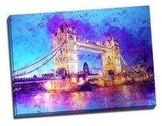 Tablou din aluminiu striat The Tower Bridge Tower Bridge, Travel, Viajes, Destinations, Traveling, Trips
