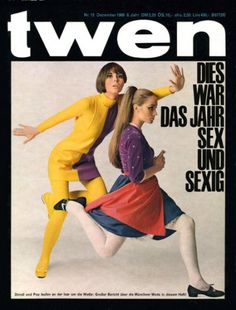 Twen Magazine by Willy Fleckhaus cover photo and editorial Sam Haskins ( retro teen magizine / retro fashion / vintage cover photography )