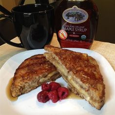 Banana Almond Butter French Toast Sandwich - perfect treat for Sunday brunch!