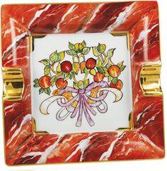 Arte Idea Posacenere Rubino dipinto a mano