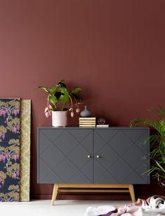 Rowico Monterey- senkki, harmaa. Side Board, Inside Doors, Adjustable Legs, Grey Oak, Scandinavian Design, Wood Furniture, Sweet Home, Indoor, Shelves