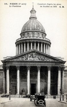 La Pantheon, Ste Geniviève 1790 - Jacques-Germain SOUFFLOT, inspired by Marc-Antoin Laugier
