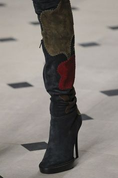 Burberry Prorsum - Autumn/Winter 2015/16 - Thigh high suede boots