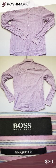 faa41eeac Hugo Boss sharp fit mens 15 34/35 dress shirt Excellent used condition.  Striped