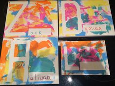 """While reading """"Just my friend and me"""" the kids painted on a canvas for their friends."""