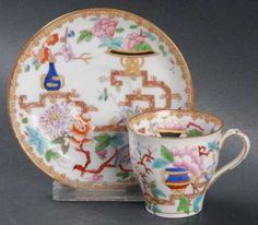 Flat Demitasse Cup & Saucer Set in Chinese Tree (Smooth) by Minton