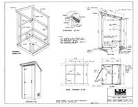 Outhouse House Plans   Free Outhouse Plans   In House Outhouse    outhouse plans