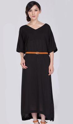 medium sleeves chiffon dress 655