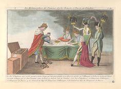 1805-07.La metamorphose des fameux aigles romain 2e age.French political cartoon;Satire on the Third Coalition; Bodleian Libraries,Francis II, HRE.George III of the United Kingdom