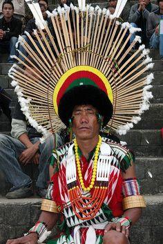 India ~ Nagaland | Angami tribesman. Portrait taken during the Hornbill festival | © sensaos, via Flickr