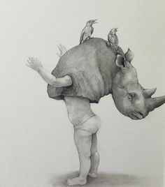 """crossconnectmag: """" Surreal Drawings by Adonna Khare Adonna Khare b. 1980 is an artist from Burbank, California mainly focused on carbon pencil on paper drawings. In 2012 she won the world's largest..."""