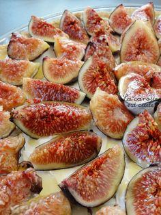 Tarte mascarpone figue et miel