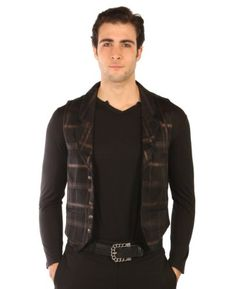 Lip Service Plaid Vest Black Copper Westing Manor Steampunk - Buy New: $71.95