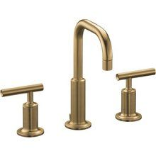 Kohler K-14406-4-BV Brushed Bronze Purist Widespread Bathroom Faucet with Ultra-Glide Valve Technology - Free Metal Pop-Up Drain Assembly with purchase