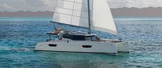 <p>A 47 Feet Yacht, design with elegant ant tonic lines, signed by Fountaine Pajot </p>