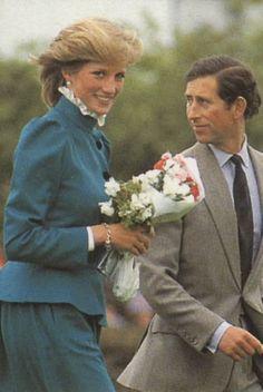 May 27, 1983: Prince Charles & Princess Diana visiting St Columb, Cornwall.
