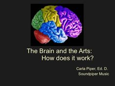 slideshow presentation about brain activity as it relates to visual art and music
