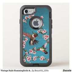 Vintage Style Hummingbirds & Blossoms OtterBox iPhone Case