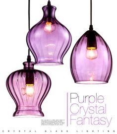 Decorating with purple purple glass glass pendants and ranges modern bottle chandeliers fixtures light lamp purple glass aloadofball Choice Image