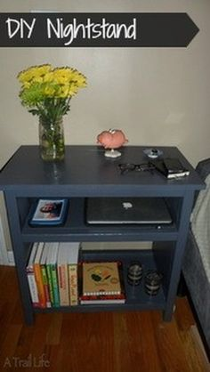 DIY Nightstand from Basic Lumber - a beginner project!  Also see http://ana-white.com/2010/04/furniture-plans-thinner-taller-cheaper.html