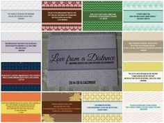 A cute wall calendar with quotes for long distance relationships! Great gift idea. $20