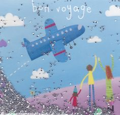 Cute Bon Voyage card at Karenza Paperie - love the heap of glitter on these!