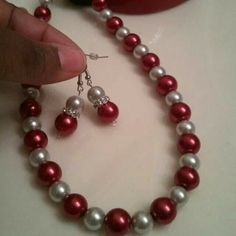 Red and silver pearl