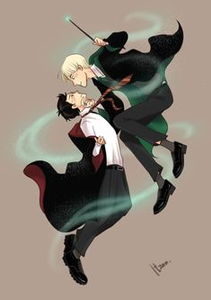 Harry Potter Totally feel like stabbing Draco Malfoy. Harry Potter Anime, Draco Malfoy Fanart, Drarry Fanart, Harry Potter Love