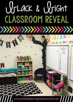 Black & Bright Classroom Decor! This post is full of classroom ideas and decor options!