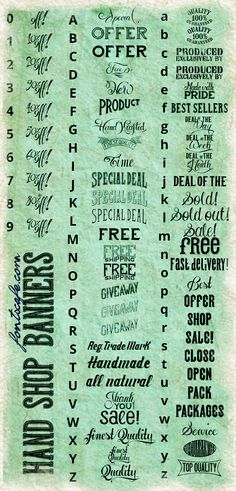 """Hand Shop Banners"" font | Fonts Cafe"