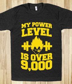 My Power Level is Over 9,000 #dragonballz #dbz #anime