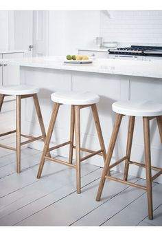 NEW Aalto Bar Stool - White - Stools - Furniture