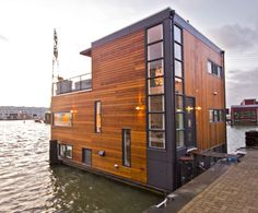 Brown Floating House