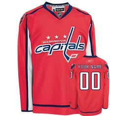 cc97bc0e2e4 Capitals Personalized Authentic Red NHL Jersey (S-3XL) Custom Hockey Jerseys,  Nhl