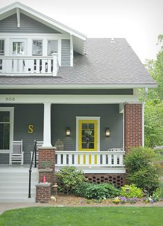 What Paint Colors to Use on Your Front Door | Yellow Front Door | POPSUGAR Home