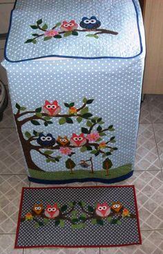 Capa p lavadora Brastemp 12kg + tapete | Lu Art´S