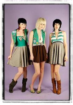 DIY Girl Scout COSTUME   Halter Dress  Vest